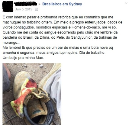 desabafo brasileiros em sydney