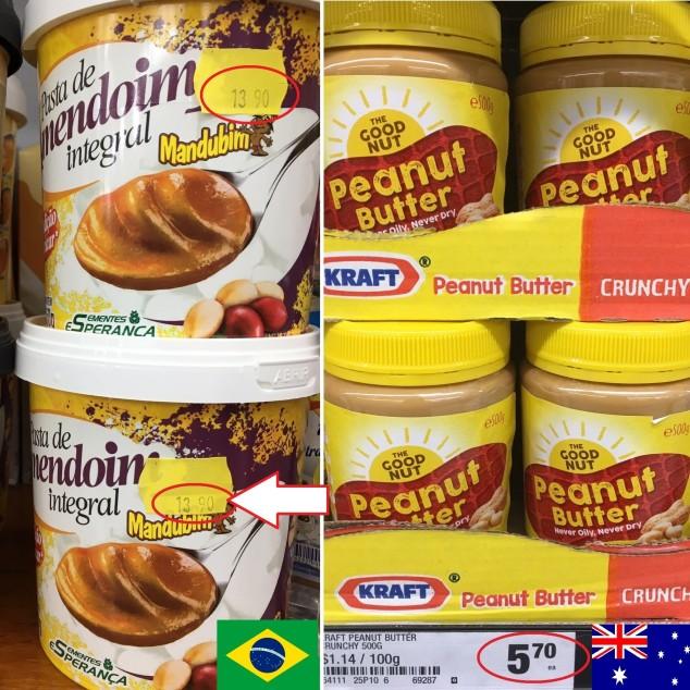 pasta de amendoim australia