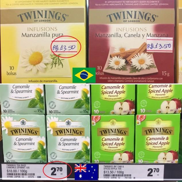 preço comida australia
